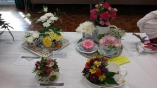 flowers tea time